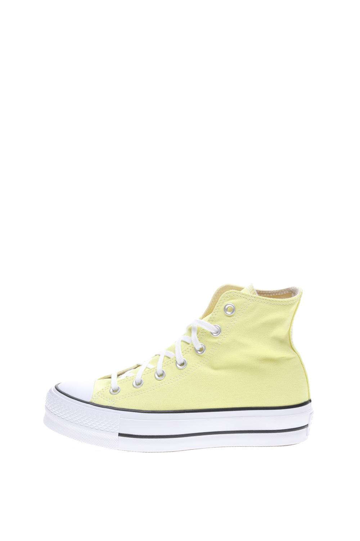 CONVERSE – Γυναικεία ψηλά sneakers CONVERSE CHUCK TAYLOR ALL STAR PLATFORM κίτρινα
