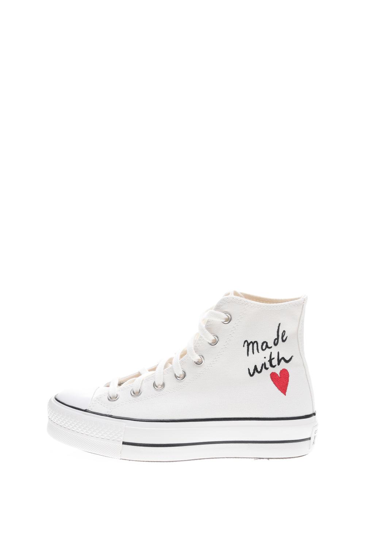 CONVERSE – Γυναικεία ψηλά sneakers CONVERSE CHUCK TAYLOR ALL STAR LIFT λευκά