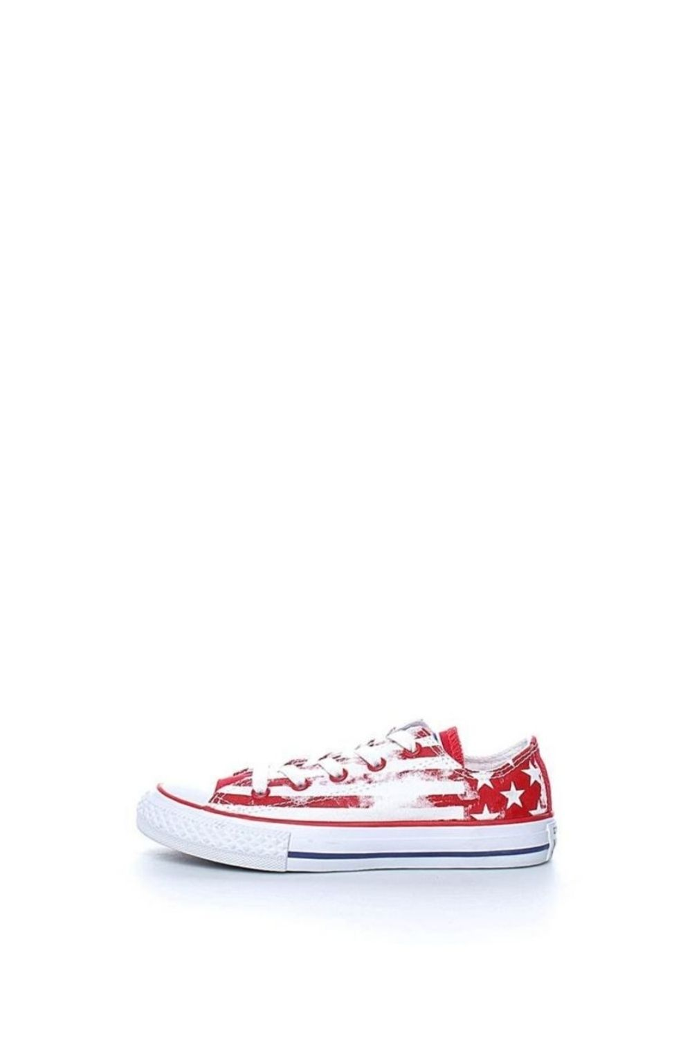 CONVERSE – Παιδικά sneakers CONVERSE Chuck Taylor All Star Ox κόκκινα λευκά