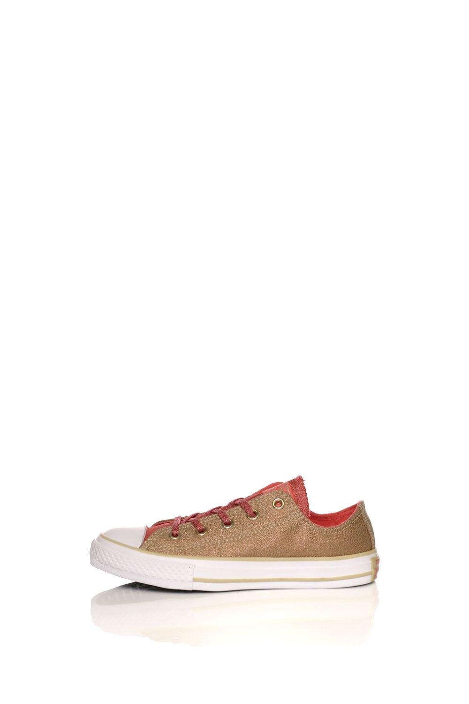 CONVERSE – Παιδικά sneakers CONVERSE Chuck Taylor All Star Ox χρυσά πορτοκαλί