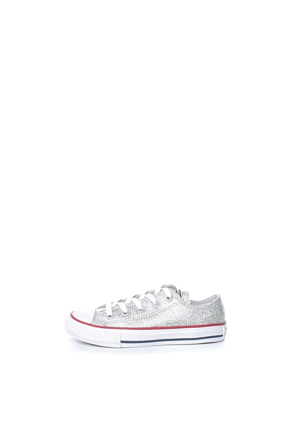 CONVERSE - Παιδικά Sneakers Με Glitter CONVERSE Chuck Taylor All Star Ασημί