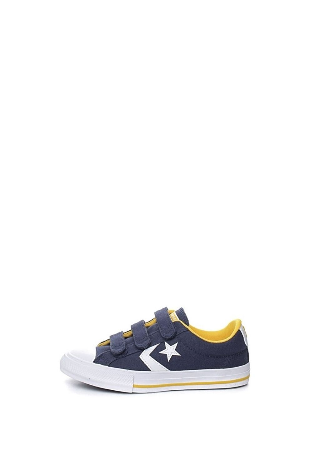 CONVERSE – Παιδικά sneakers CONVERSE STAR PLAYER 3V CANVAS μπλε κίτρινα