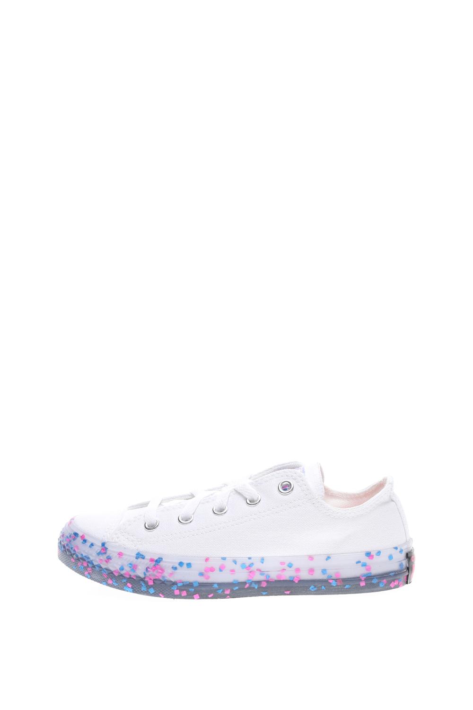 CONVERSE – Παιδικά sneakers CONVERSE CHUCK TAYLOR ALL STAR TRANSLUC λευκά