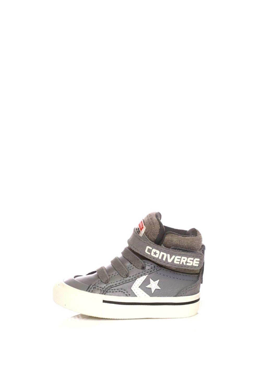 CONVERSE – Βρεφικά ψηλά sneakers CONVERSE Pro Blaze Strap Stretch Hi καφέ