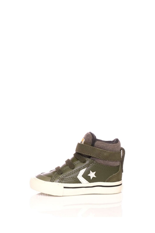 CONVERSE – Βρεφικά παπούτσια Converse Star Player Pro Blaze Strap Stretch Hi χακί