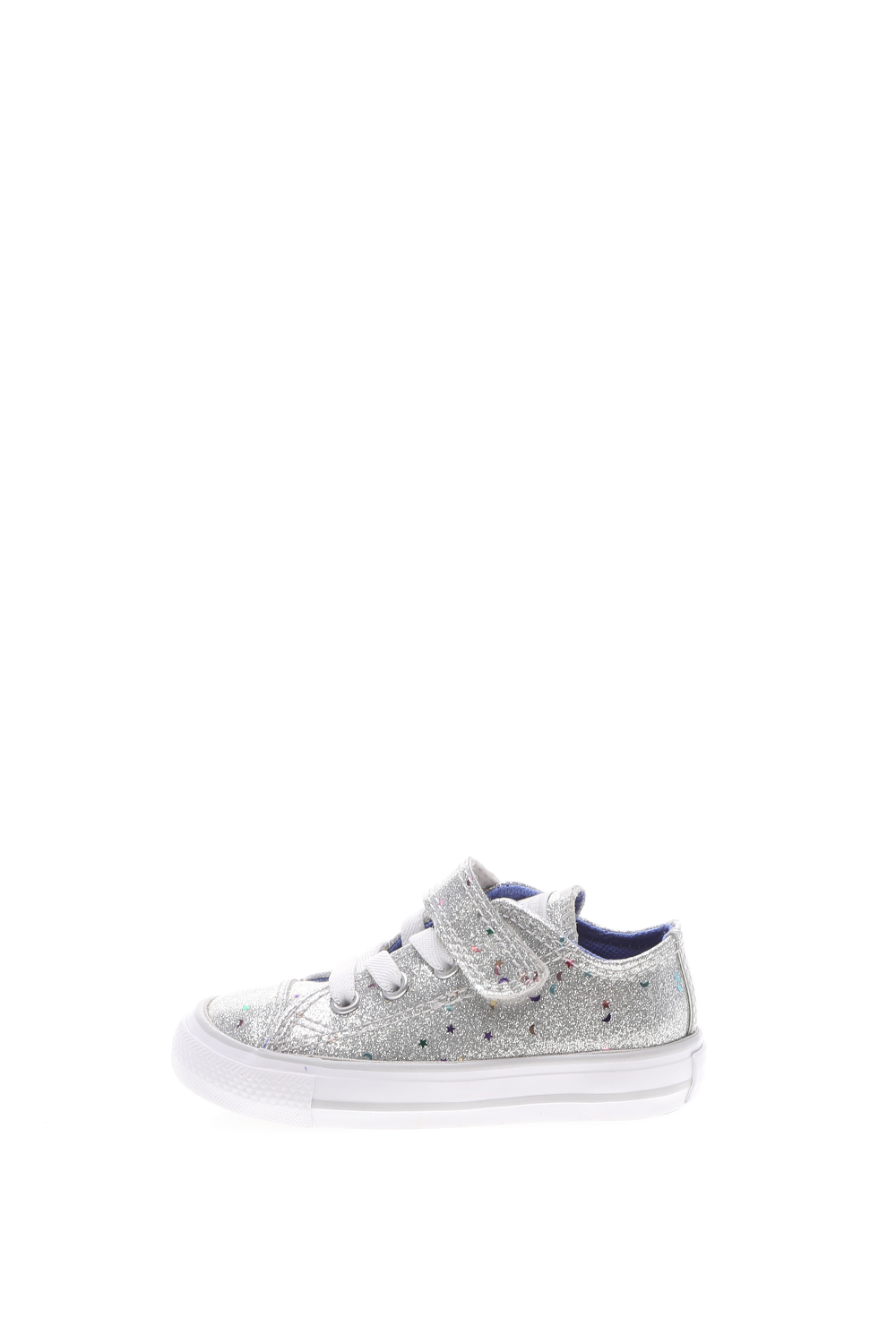 CONVERSE – Βρεφικά sneakers CONVERSE CHUCK TAYLOR ALL STAR 1V ασημί