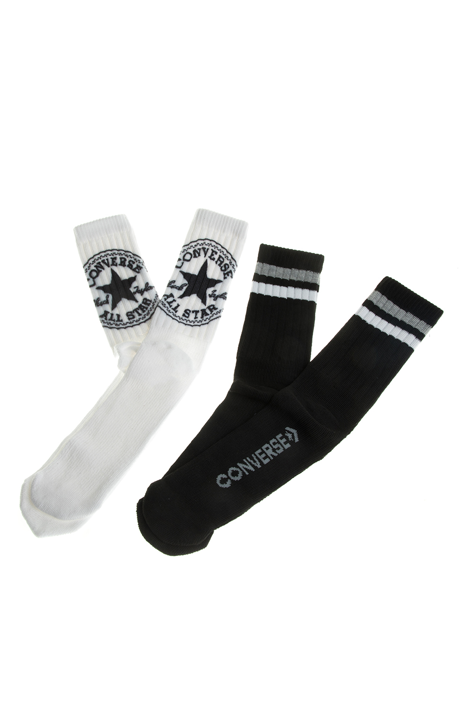 CONVERSE - Σετ ανδρικές κάλτσες Converse λευκές-μαύρες με σχέδια