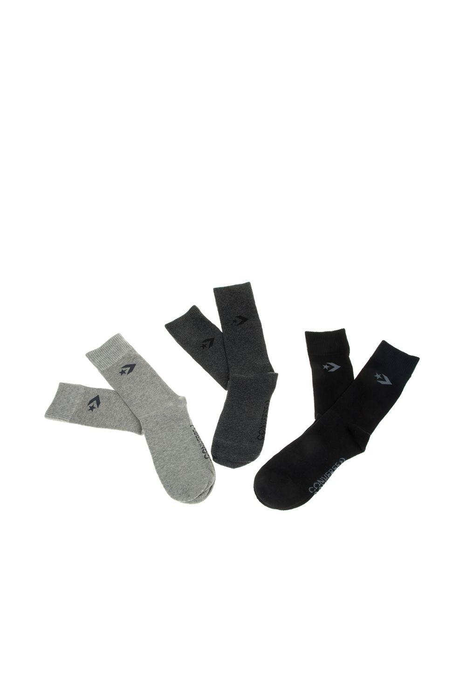 CONVERSE - Ανδρικές κάλτσες σετ των 3 CONVERSE γκρι ανθρακί μαύρο