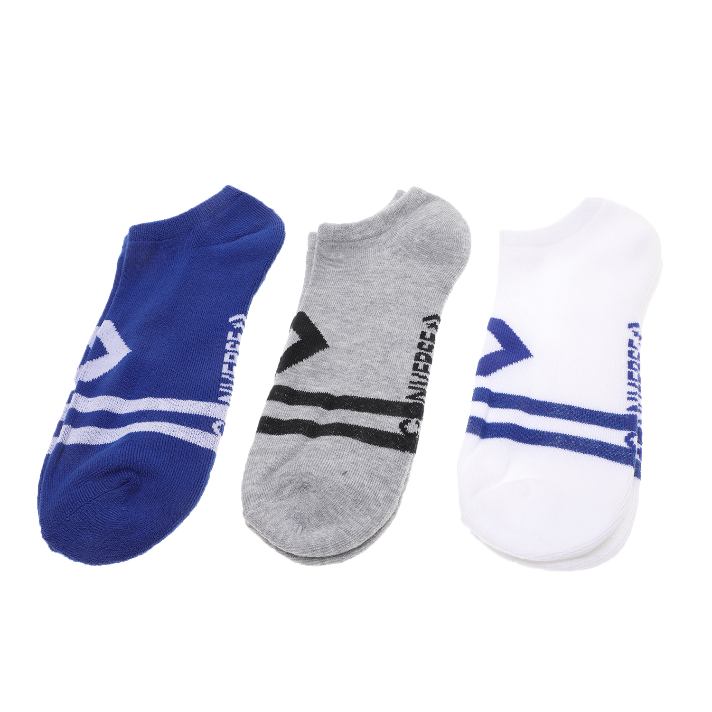 CONVERSE - Ανδρικές κάλτσες σετ των 3 CONVERSE Vintage star chevron λευκές μπλε γκρι