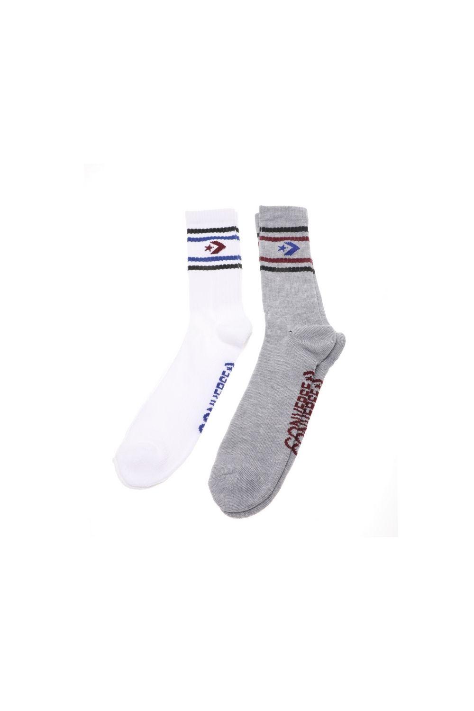 CONVERSE - Ανδρικές κάλτσες σετ των 2 CONVERSE Vintage star chevron λευκές γκρι