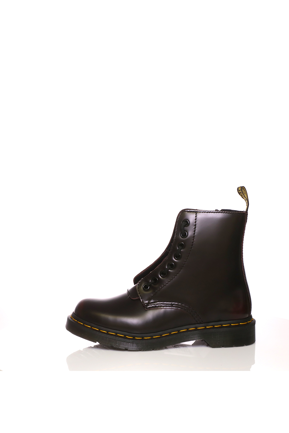 DR.MARTENS – Γυναικεία μποτάκια Pascal Frnt Zip 8 Eye Boot σκούρο μπορντό