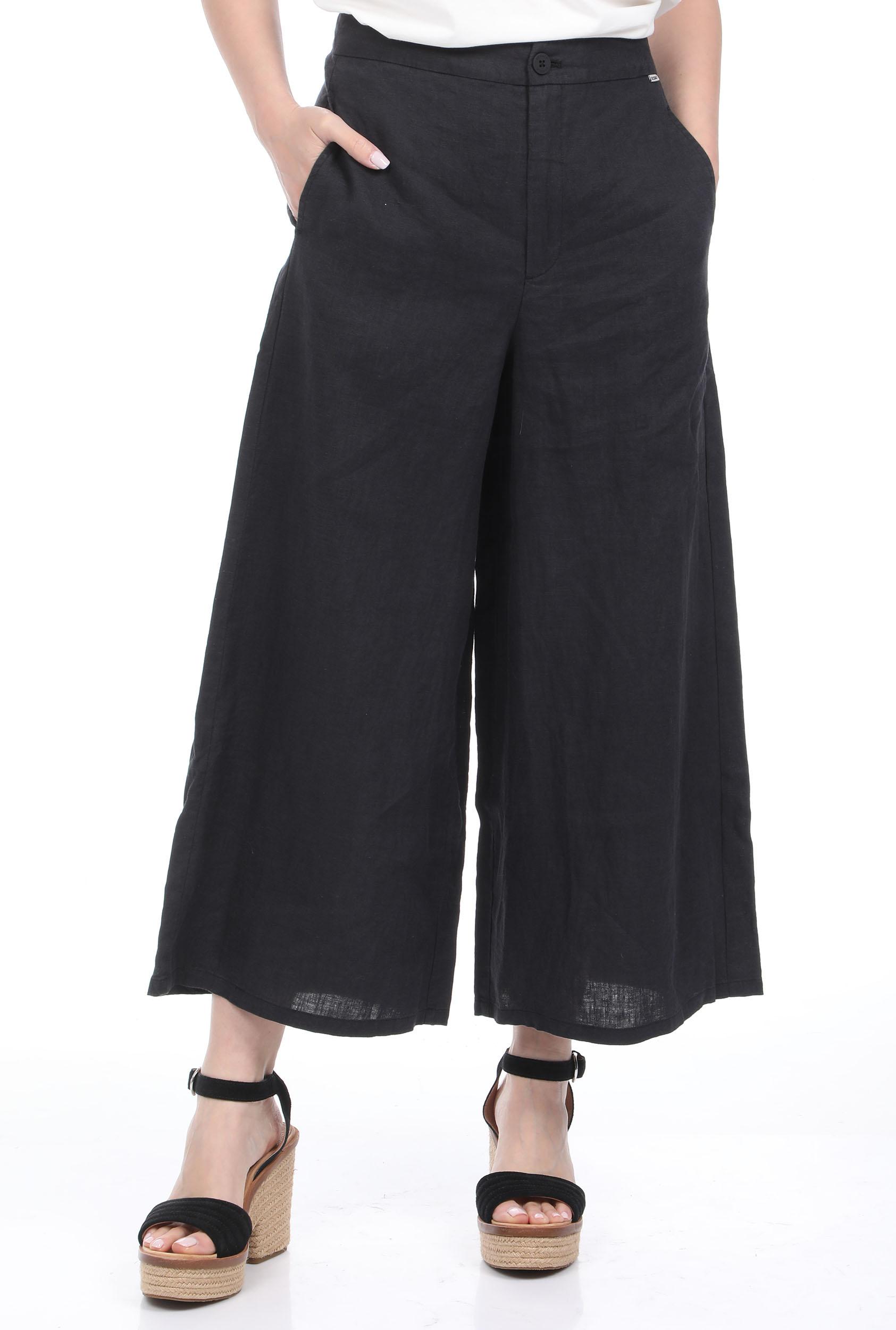 ECOALF - Γυναικεία λινή cropped παντελόνα GRACE AND MILA CYDER γκρι