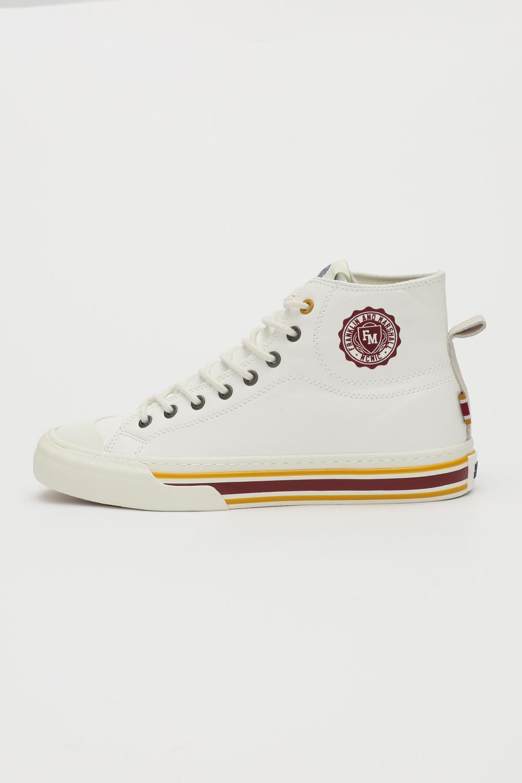 FRANKLIN & MARSHALL – Ανδρικά ψηλά sneakers FRANKLIN & MARSHALL BETA RIBS EAGLE λευκά