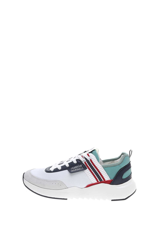 FRANKLIN & MARSHALL – Ανδρικά sneakers FRANKLIN & MARSHALL ALPHA NIMBLE λευκά μπλε
