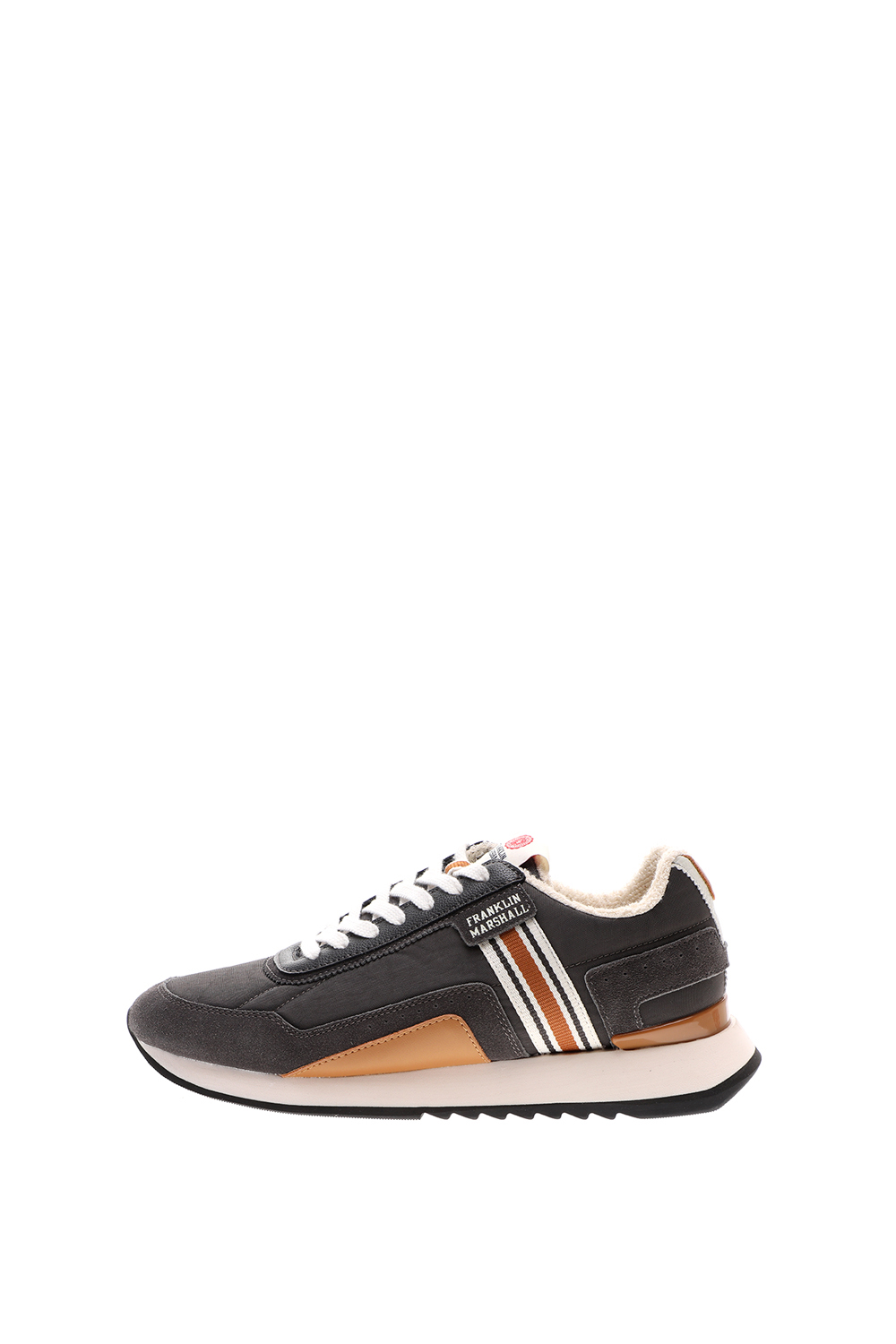 FRANKLIN & MARSHALL – Ανδρικά sneakers FRANKLIN & MARSHALL EPSILON BOWL γκρι καφέ