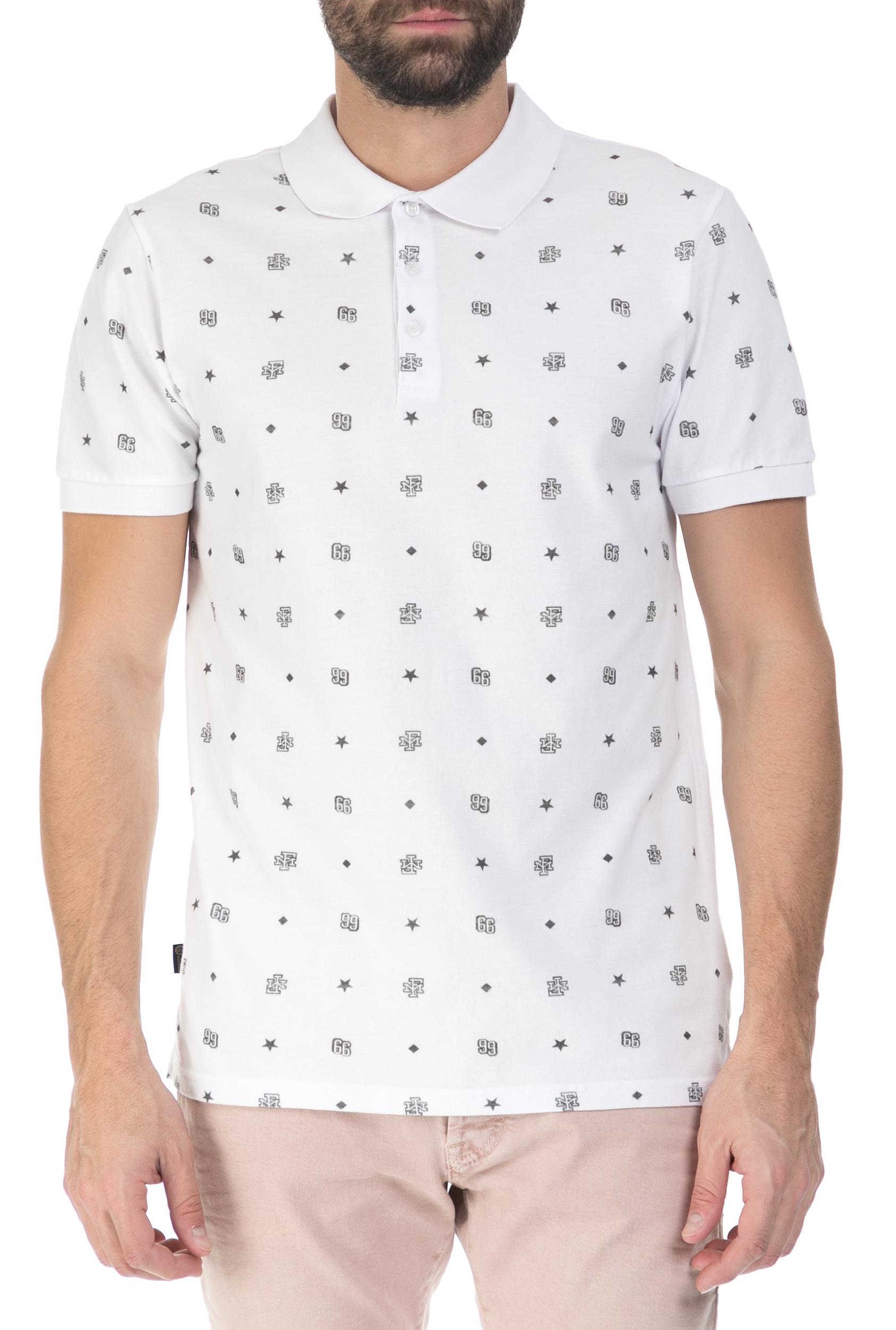 aa234750c332 FRANKLIN   MARSHALL - Ανδρική polo μπλούζα Franklin   Marshall λευκή - μαύρη