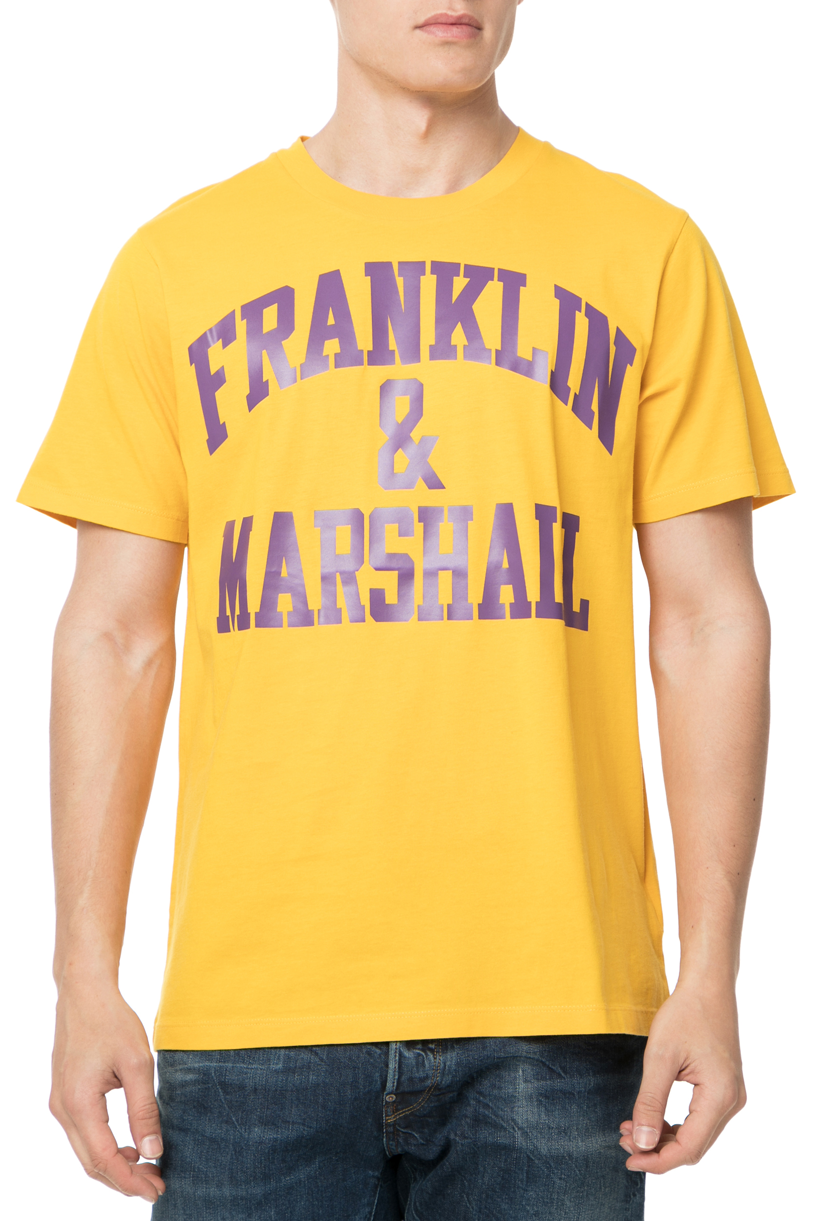 661cdcde47 FRANKLIN   MARSHALL - Ανδρικό t-shirt Franklin   Marshall JERSEY ROUND NECK  κίτρινο