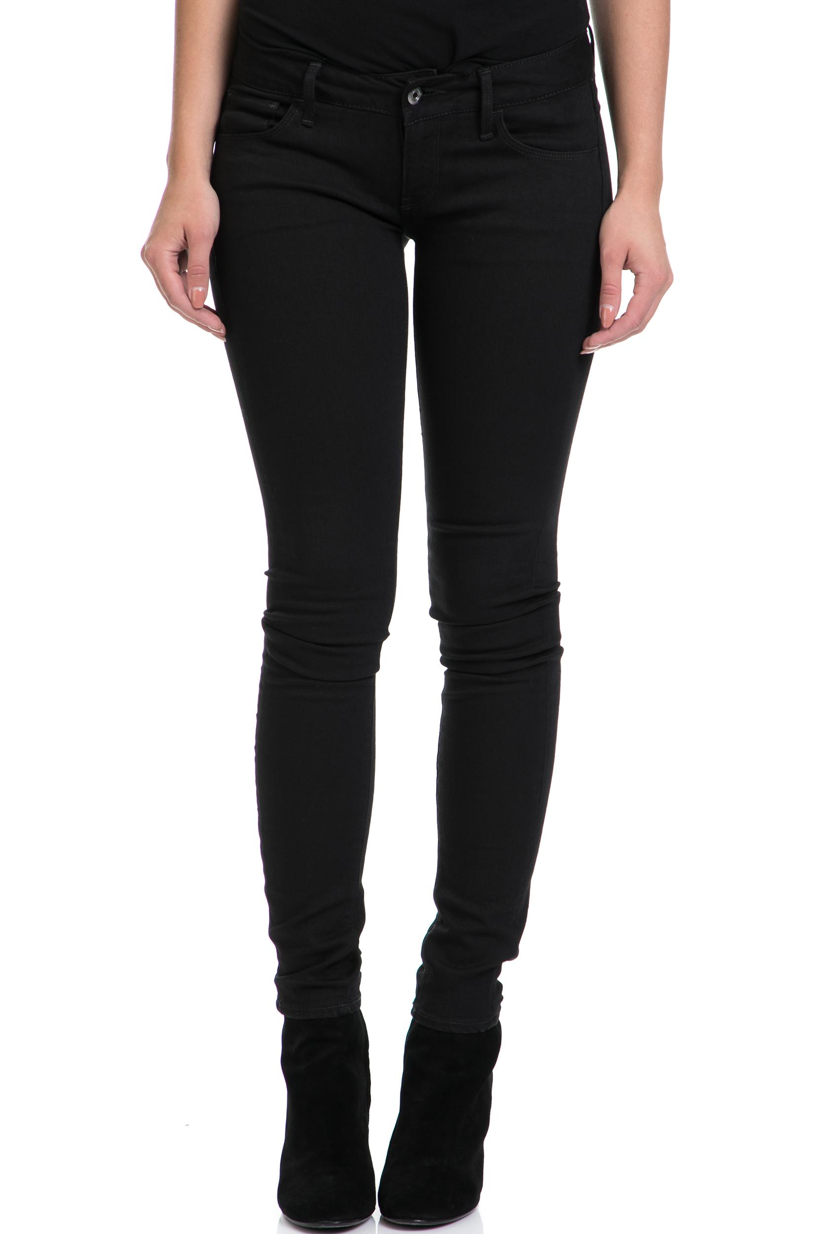 G-STAR - Γυναικείο παντελόνι Deconst Low Skinny G-STAR RAW μαύρο