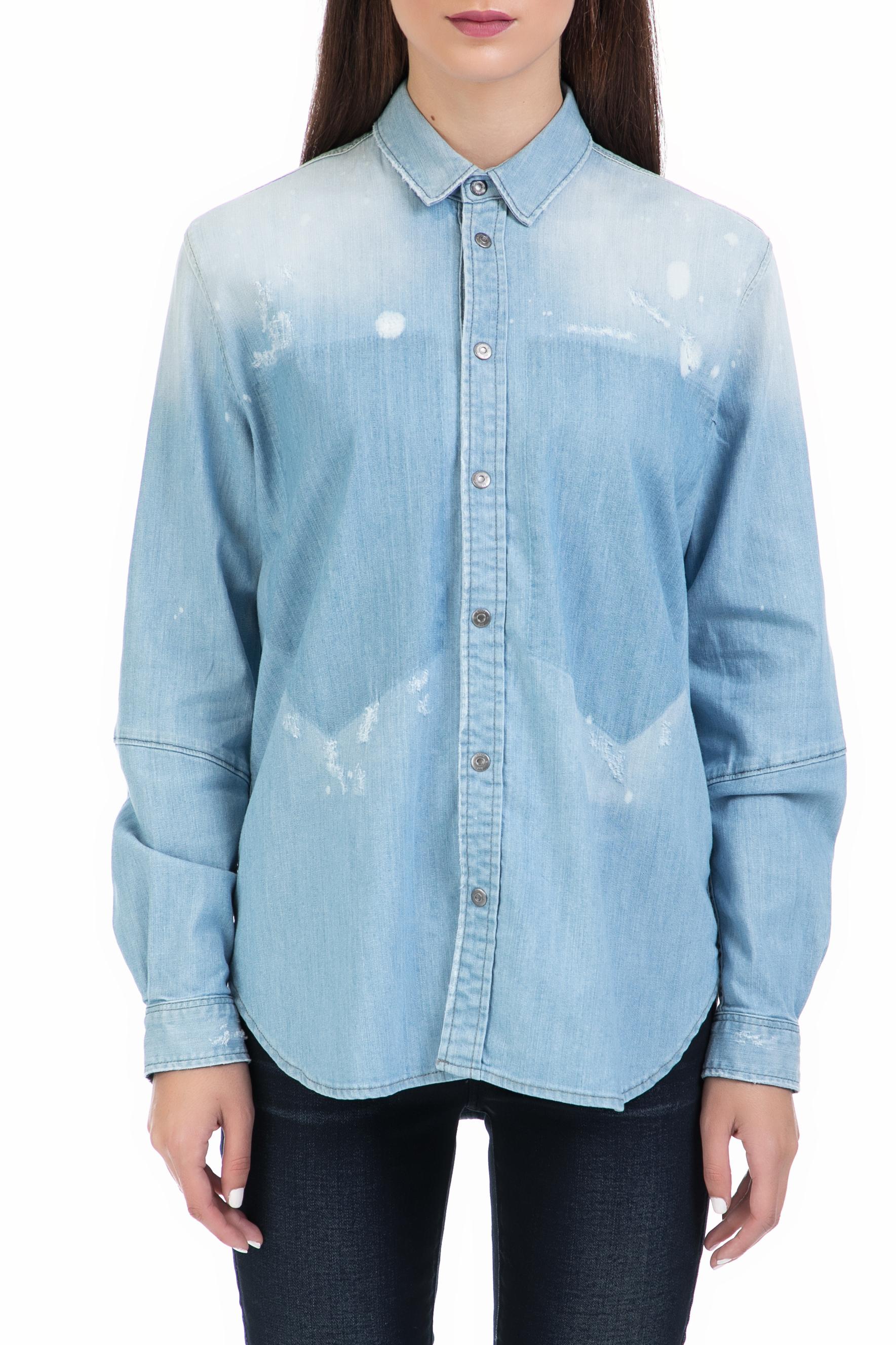G-STAR RAW - Γυναικείο πουκάμισο Modern Arc 3D BF shirt μπλε γυναικεία ρούχα πουκάμισα μακρυμάνικα