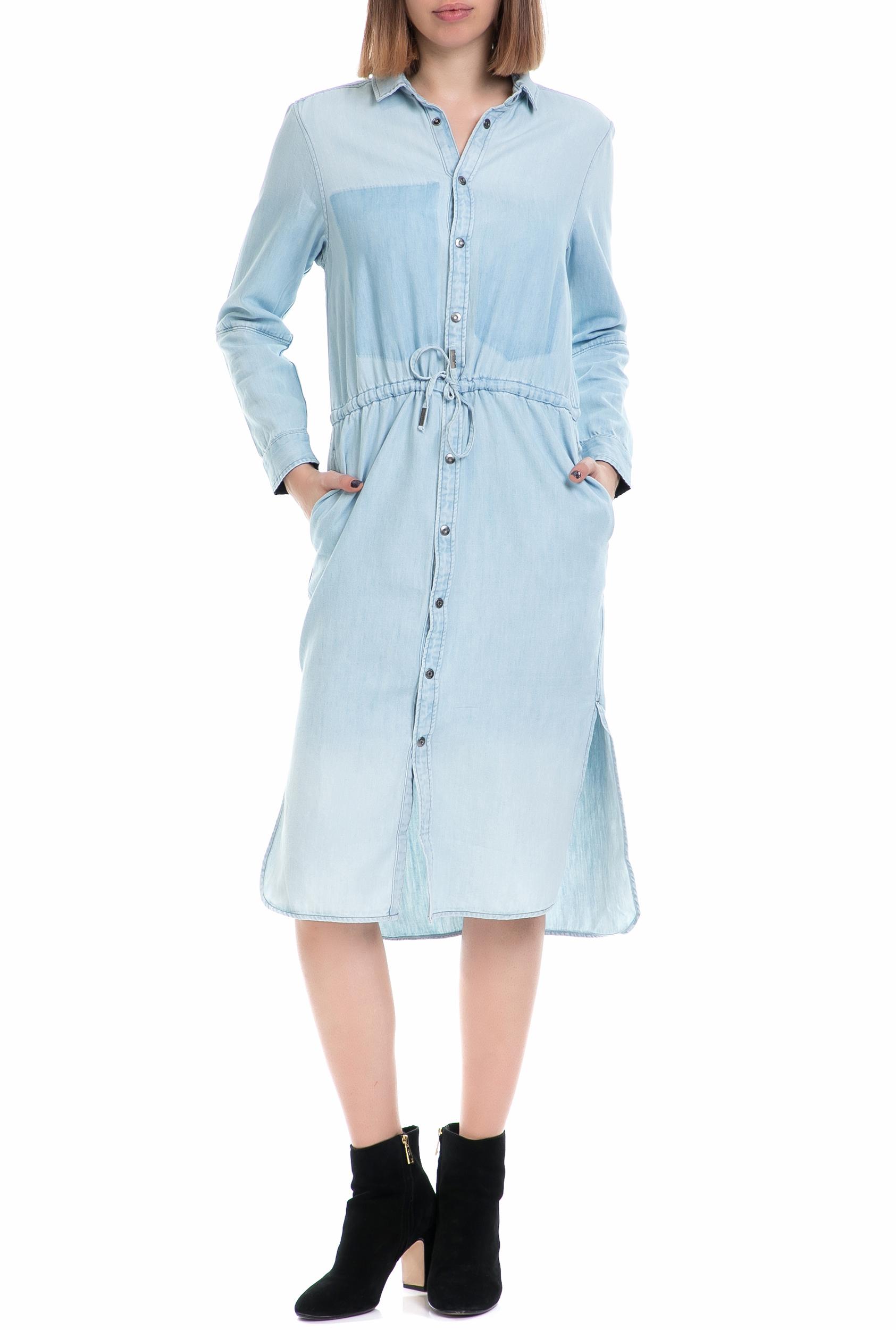 G-STAR - Γυναικείο τζιν φόρεμα Modern Arc 3D G-STAR μπλε