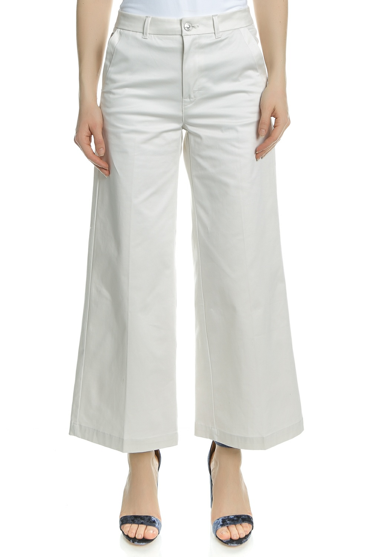 G-STAR - Γυναικείο παντελόνι BRONSON HIGH LOOSE CHINO 7/8 λευκό