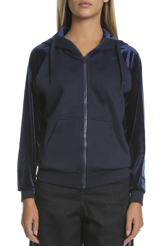 G-STAR RAW - Γυναικεία φούτερ ζακέτα με κουκούλα G-STAR RAW μπλε · Πανωφόρια c95fd720453