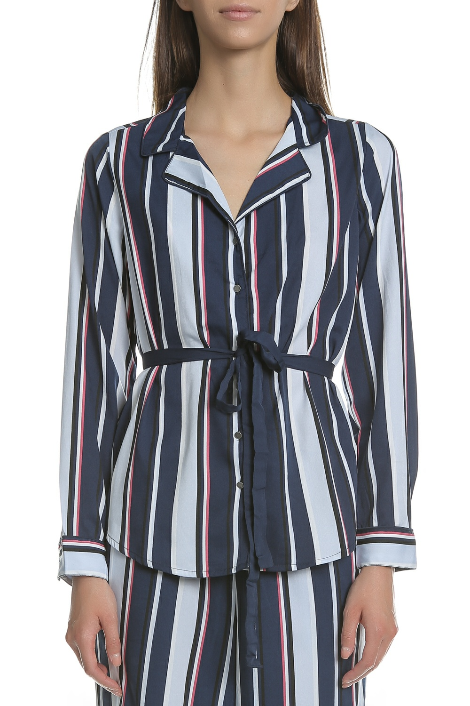 GARCIA JEANS - Γυναικείο μακρυμάνικο πουκάμισο Garcia Jeans μπλε - λευκό - κόκκινο