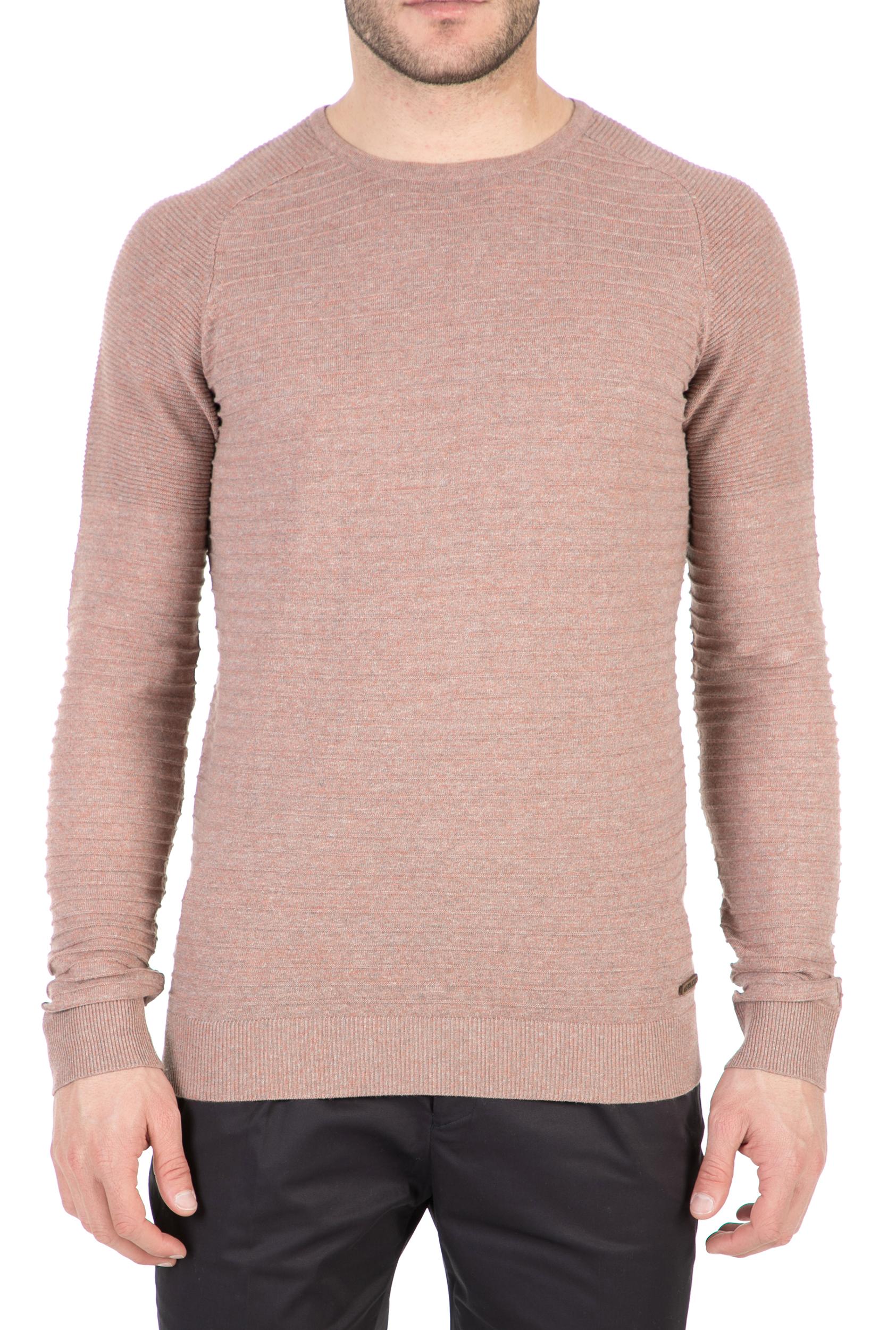 77e765392d79 GARCIA JEANS - Ανδρική μακρυμάνικη μπλούζα GARCIA JEANS ροζ