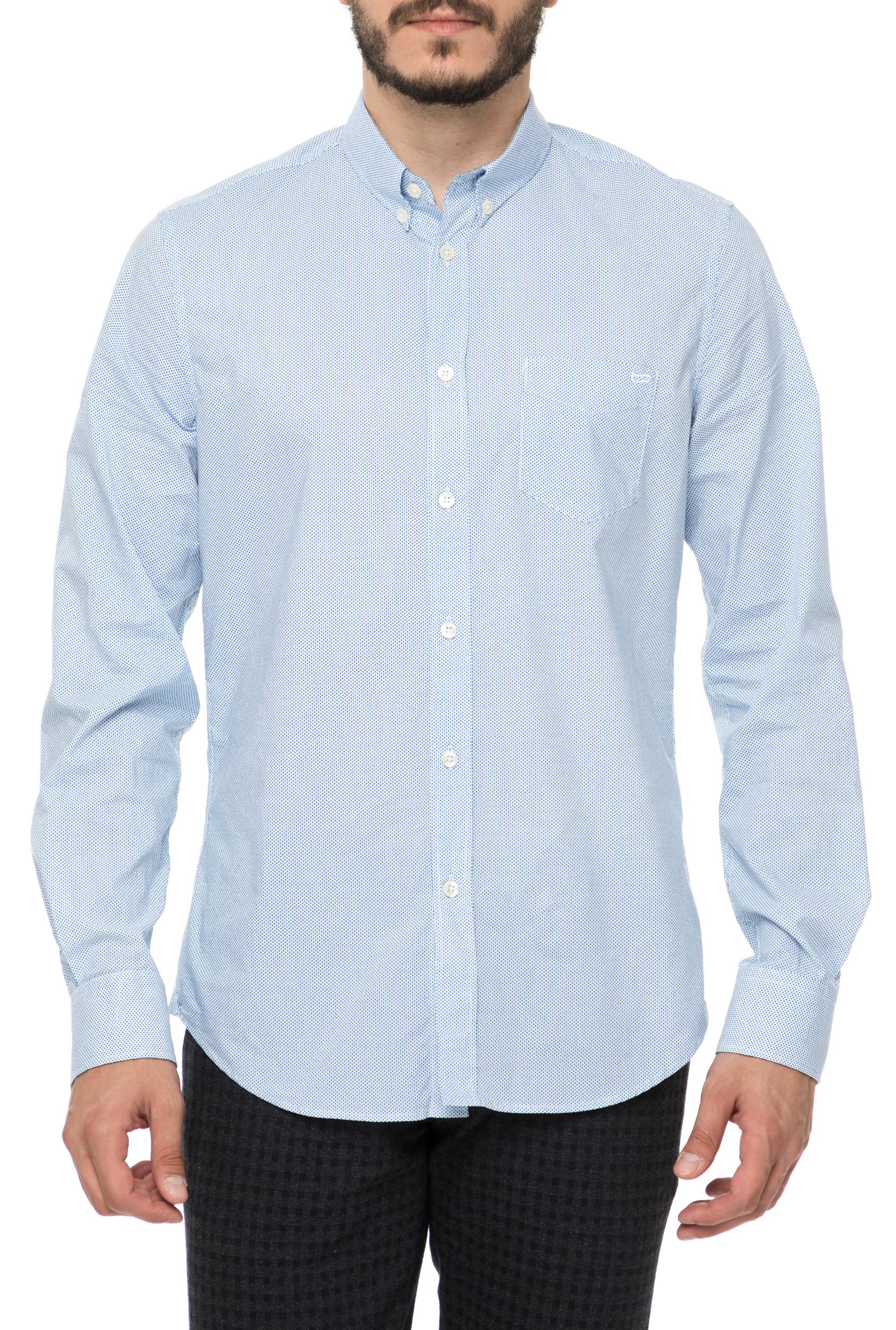 aa12cd98dc53 CollectiveOnline GAS - Ανδρικό μακρυμάνικο πουκάμισο GAS γαλάζιο