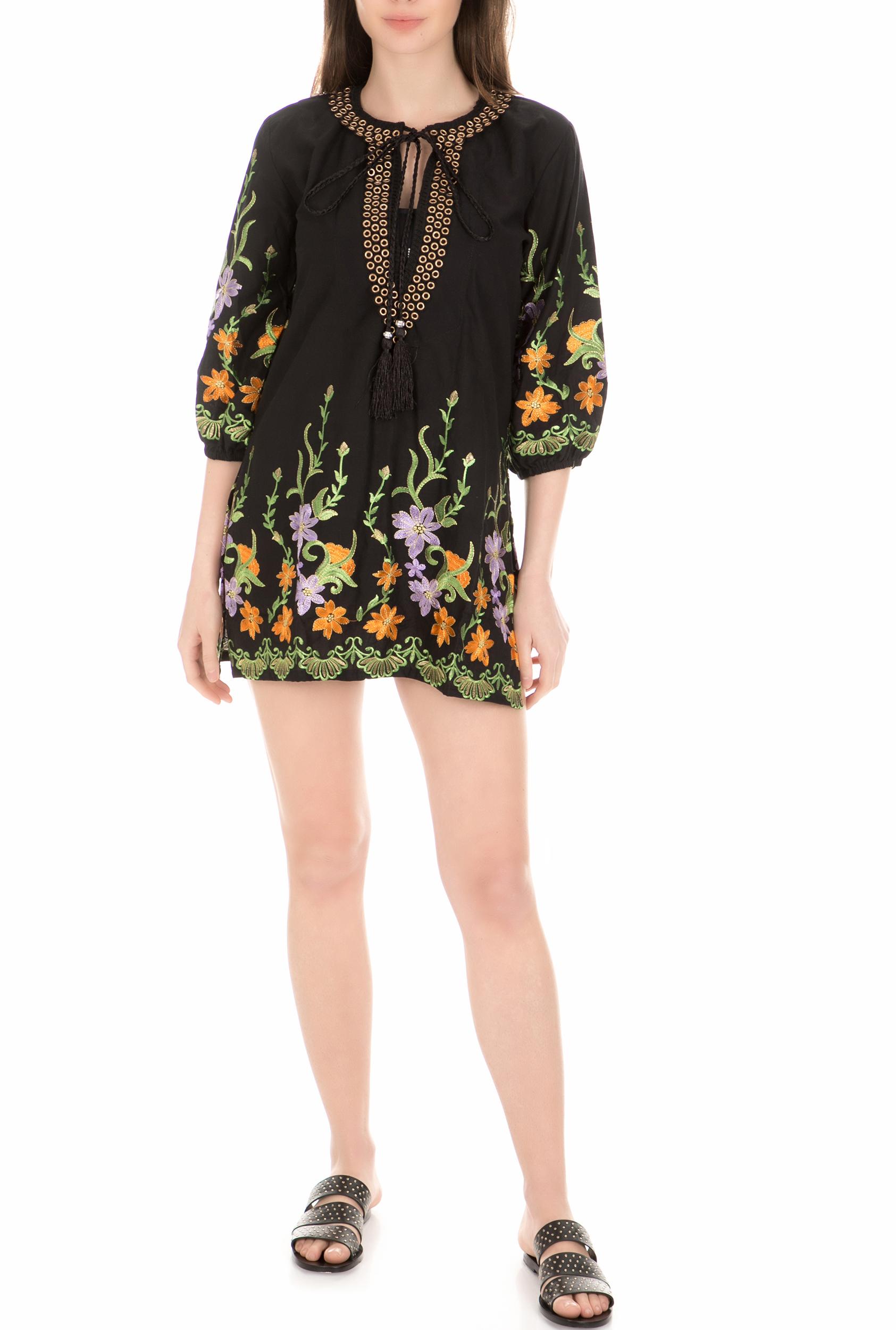 GOOSHWA - Γυναικείο φόρεμα παραλίας GOOSHWA μαύρο γυναικεία ρούχα φόρεματα μίνι