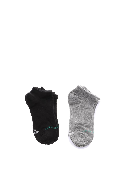 GSA - Unisex κάλτσες σετ των 6 GSA COTTON BASIC μαύρες λευκές γκρι