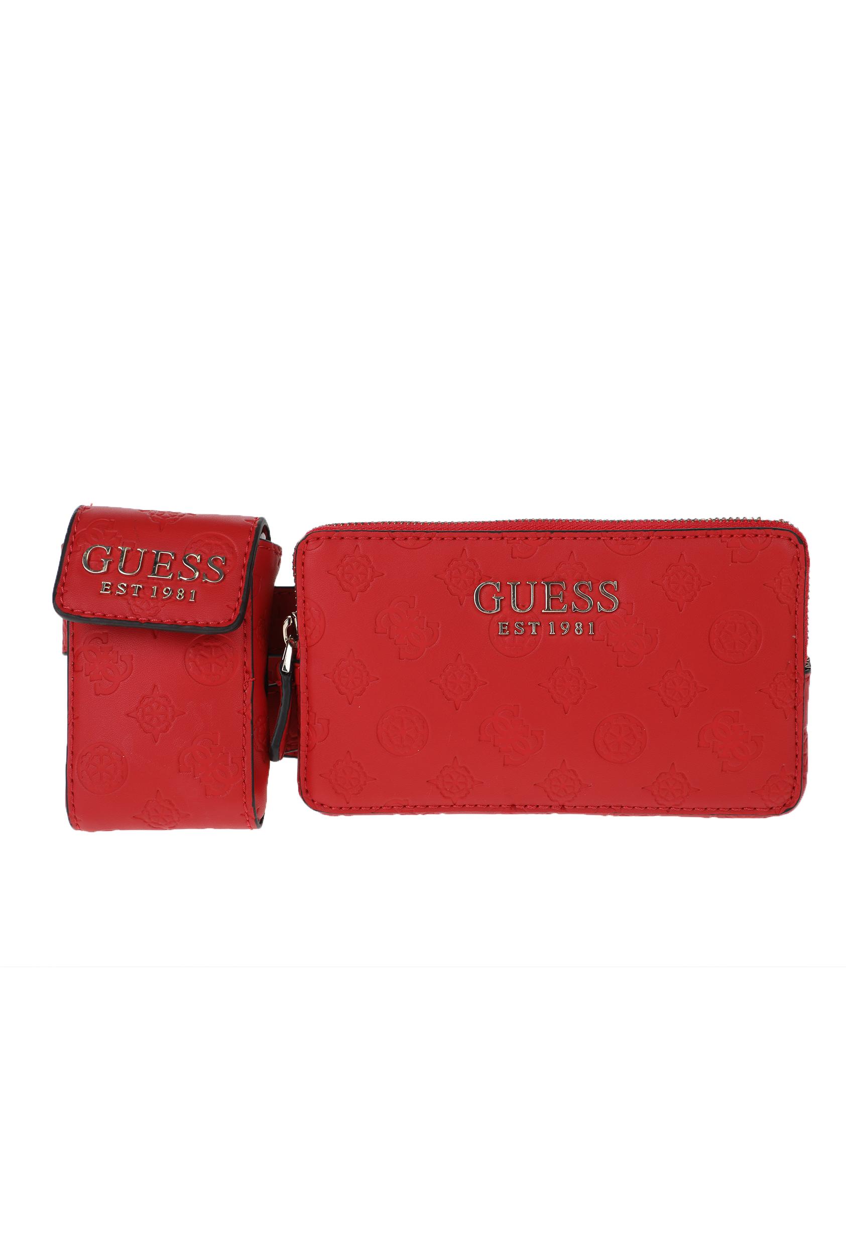 GUESS - Γυναικεία τσάντα μέσης GUESS κόκκινο γυναικεία αξεσουάρ τσάντες σακίδια μέσης