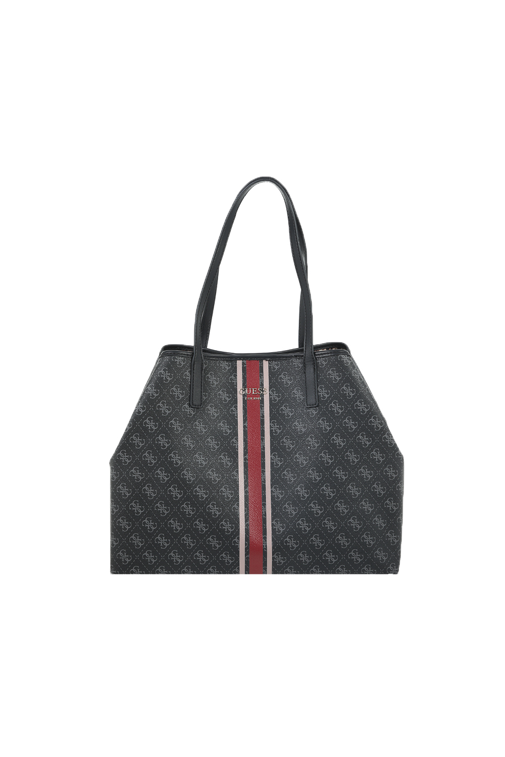 GUESS - Γυναικεία τσάντα tote GUESS VIKKY LARGE TOTE ανθρακί