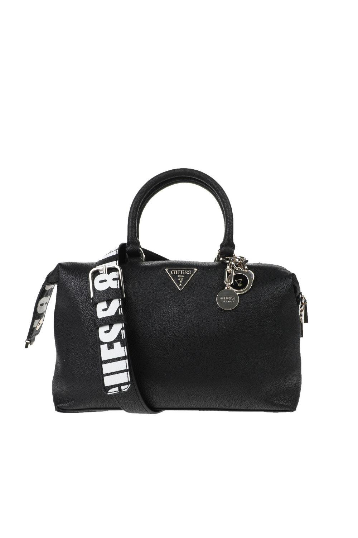 GUESS - Γυναικεία τσάντα χειρός GUESS NARITA SOHO SATCHEL μαύρη