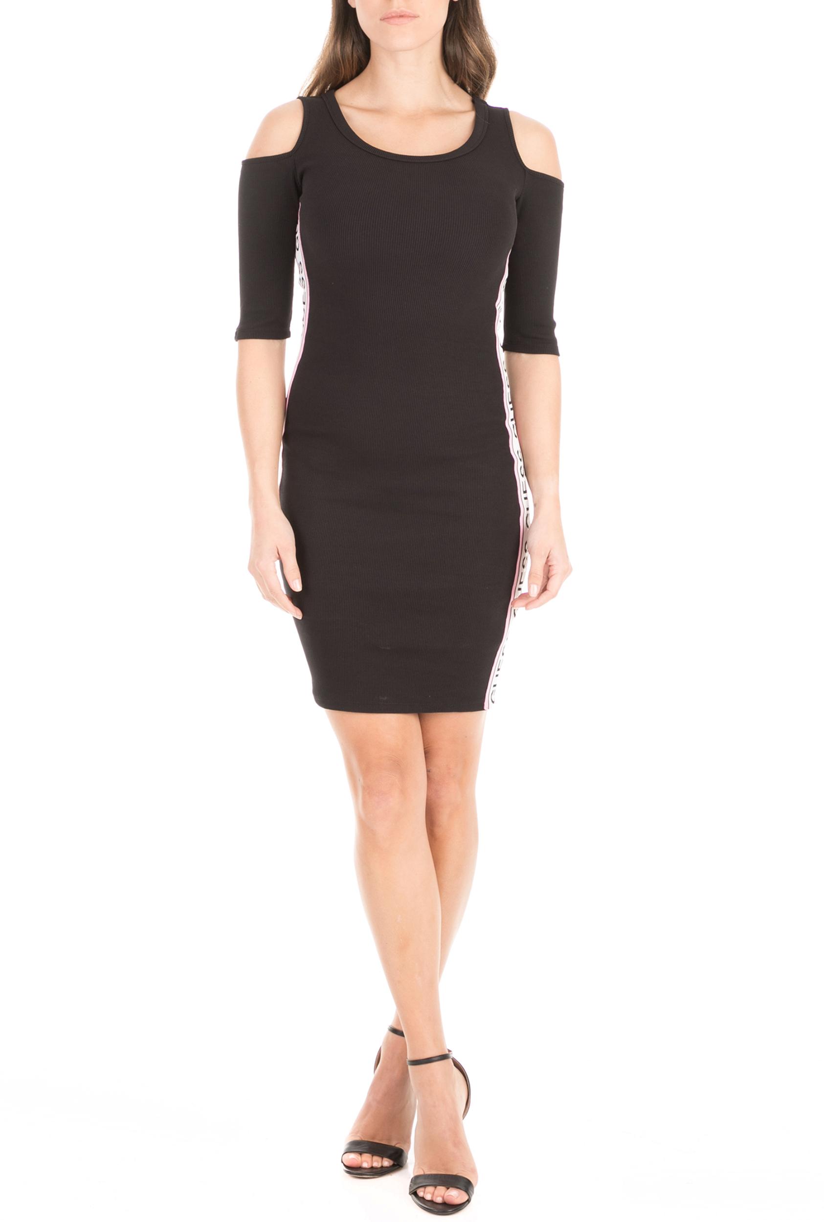 GUESS - Γυναικείο μίνι φόρεμα GUESS ALMA μαύρο γυναικεία ρούχα φόρεματα μίνι