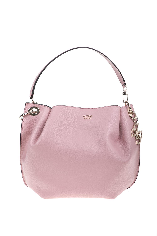 GUESS - Γυναικεία τσάντα ώμου Guess DIGITAL HOBO ροζ 6f1087f295a