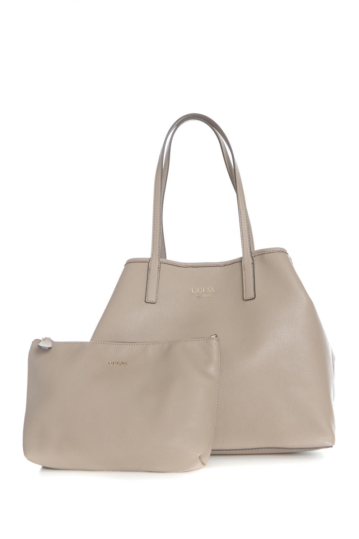 GUESS - Γυναικεία τσάντα χειρός VIKKY LARGE TOTE GUESS μπεζ f0732bd2693
