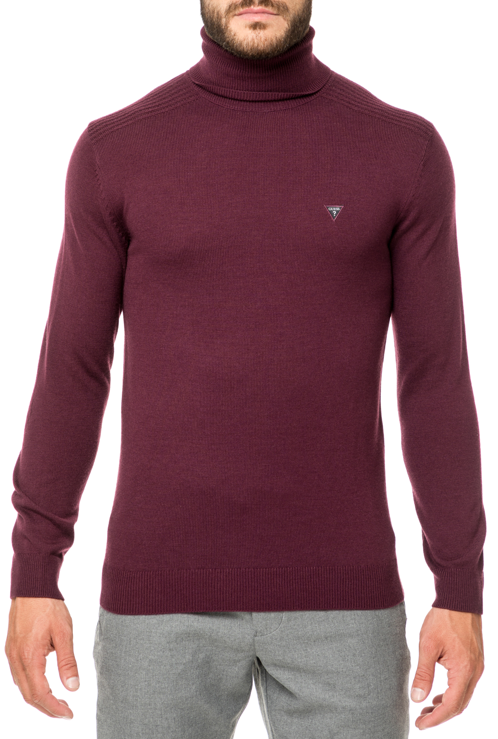6399fd9d90c7 GUESS - Ανδρική ζιβάγκο μπλούζα GUESS μπορντό
