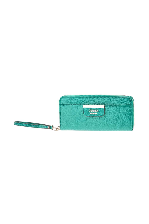 CollectiveOnline GUESS - Γυναικείο πορτοφόλι με φερμουάρ Guess BOBBI SLG  LARGE πράσινο e980b941d6c