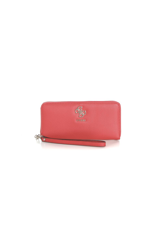 b44d659385f GUESS - Γυναικείο πορτοφόλι με φερμουάρ GUESS DIGITAL κόκκινο