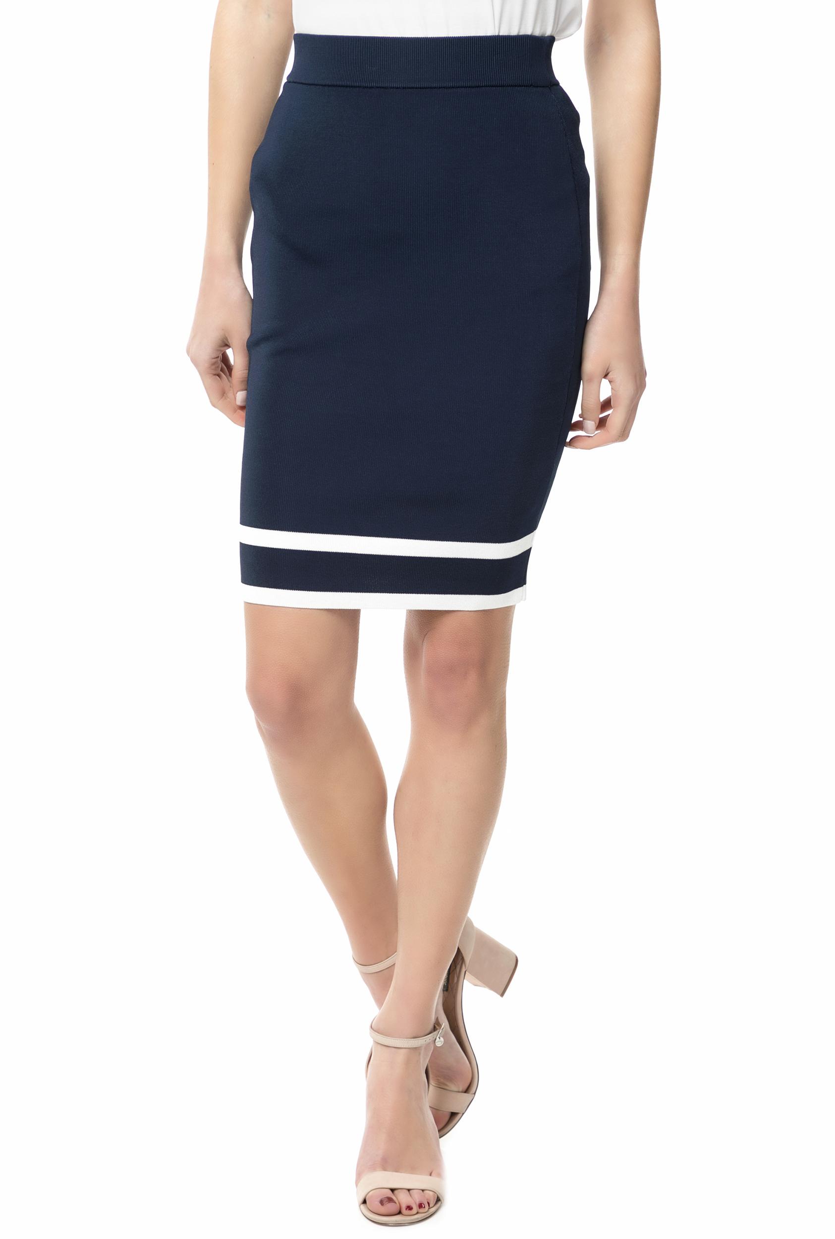GUESS - Γυναικεία ψηλόμεση pencil φούστα JOLE GUESS μπλε - λευκή 64b7e3f9188