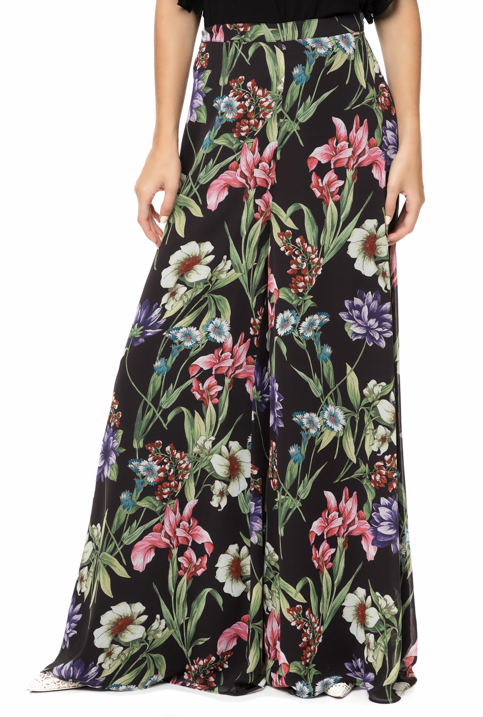 CollectiveOnline GUESS - Γυναικεία ψηλόμεση παντελόνα GUESS RAMONA μαύρο με  φλοράλ fa08854070d