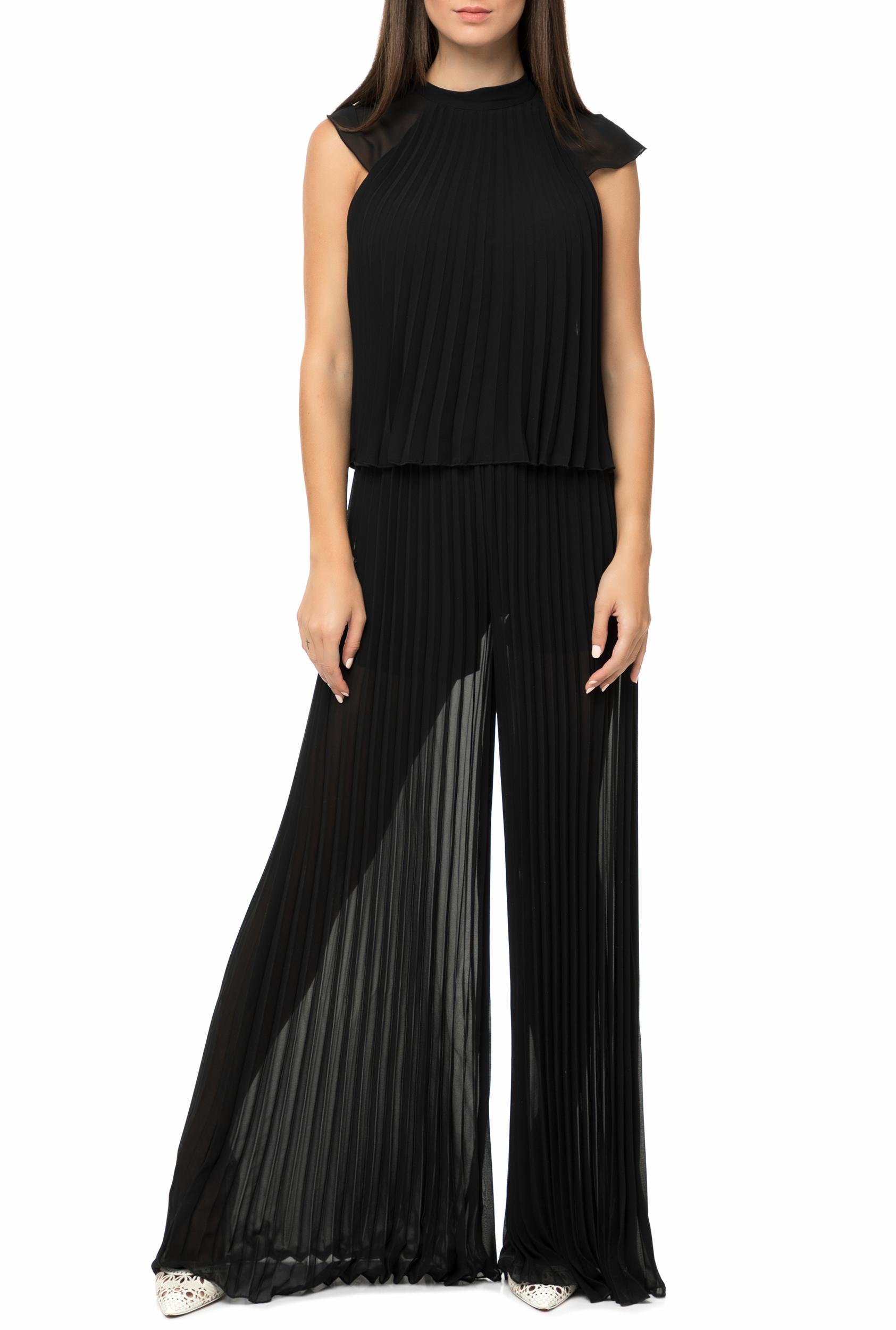 GUESS - Γυναικεία ολόσωμη φόρμα GUESS JUANITA μαύρη πλισέ b14517a7ec2