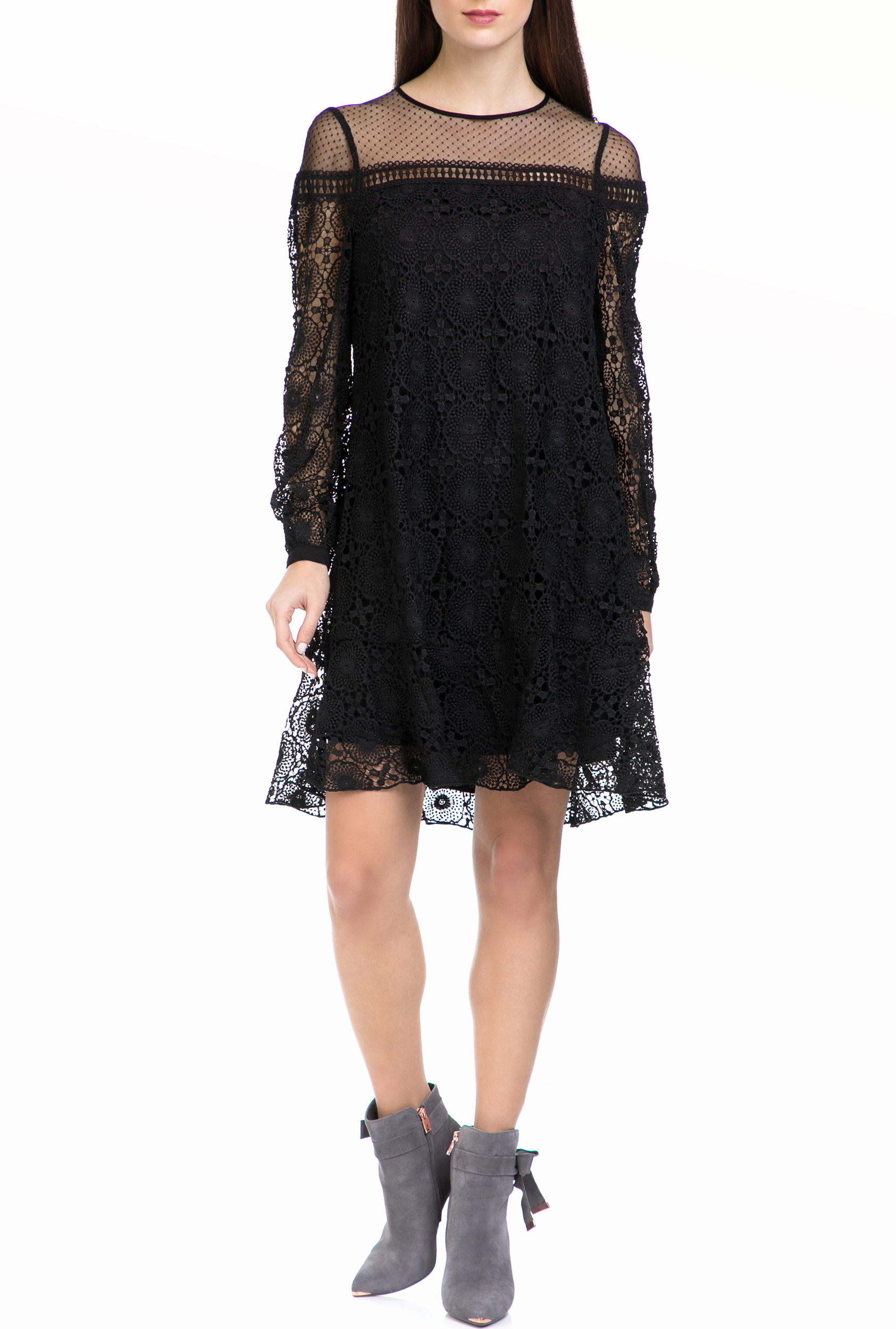 HALE BOB - Γυναικείο φόρεμα HALE BOB μαύρο γυναικεία ρούχα φόρεματα μίνι