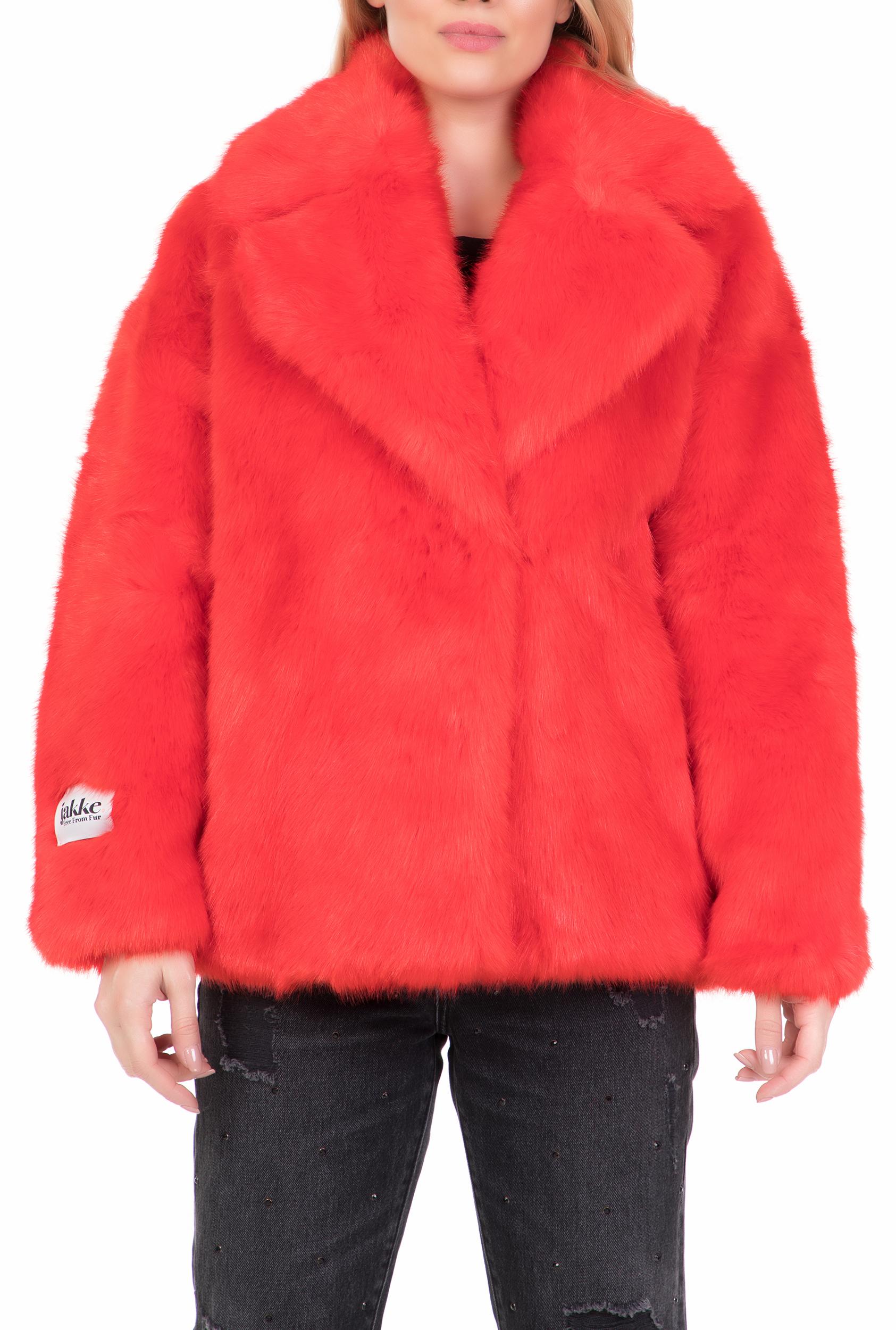 JAKKE - Γυναικείο γούνινο jacket RITA JAKKE κόκκινο · Πανωφόρια d10fc1f0ace