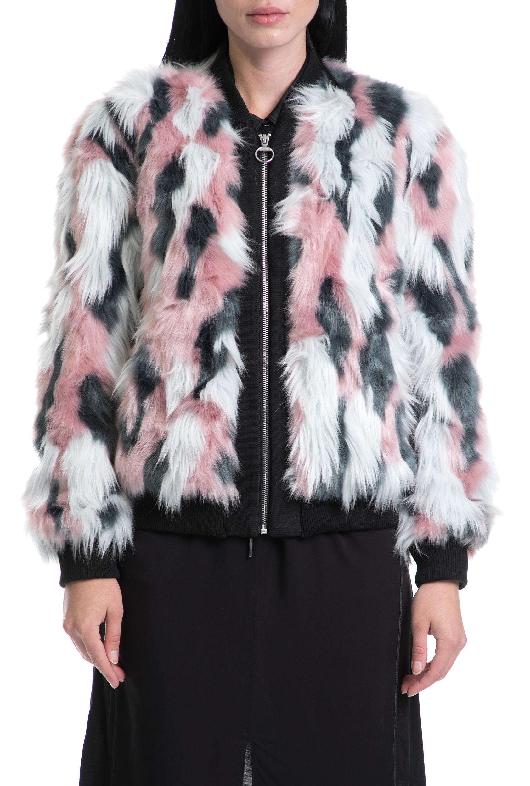f024aa659f6a JUICY COUTURE - Γυναικείο παλτό JUICY COUTURE ροζ-άσπρο-μαύρο
