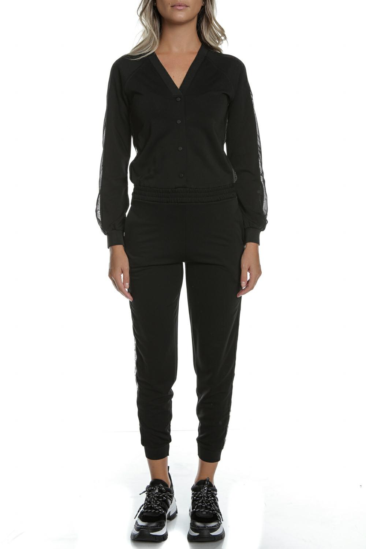 KARL LAGERFELD - Γυναικεία ολόσωμη φόρμα KARL LAGERFELD μαύρη