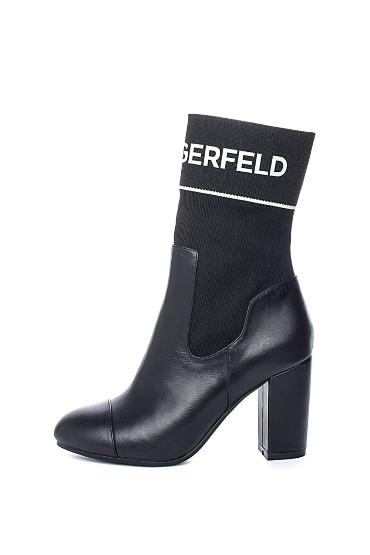 KARL LAGERFELD – Γυναικεία μποτάκια VOYAGE II Midi Mix KARL LAGERFELD μαύρα