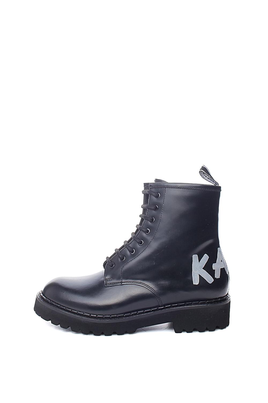 KARL LAGERFELD – Γυναικεία ορειβατικά μποτάκια KARL LAGERFELD Brush Logo Boot Hi μαύρα