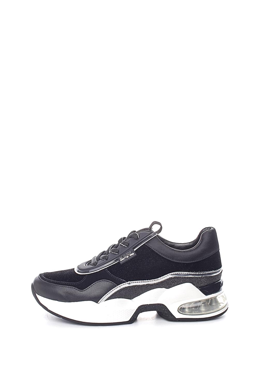 KARL LAGERFELD – Γυναικεία sneakers KARL LAGERFELD LAZARE VELVET LACE μαύρα